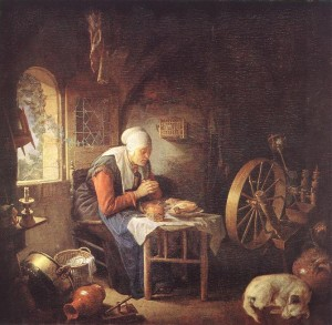 Gerard Dou: The Prayer of the Spinner