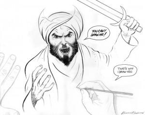 The winning cartoon from Pamela Geller's contest.