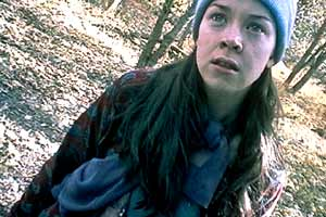 Heather Donahue, in THE BLAIR WITCH PROJECT (Artisan Entertainment)