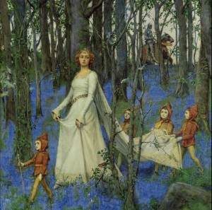 """""""The Fairy Wood"""" by Henry Meynell Rheam, 1903 (Wikimedia Commons)"""