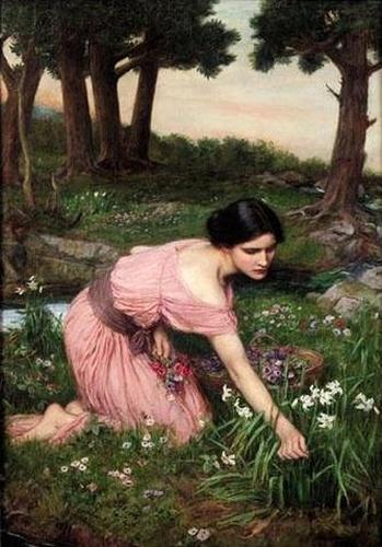 """Sprung Spreads One Green Lap of Flowers"" by J. W. Waterhouse (wikimedia commons)"