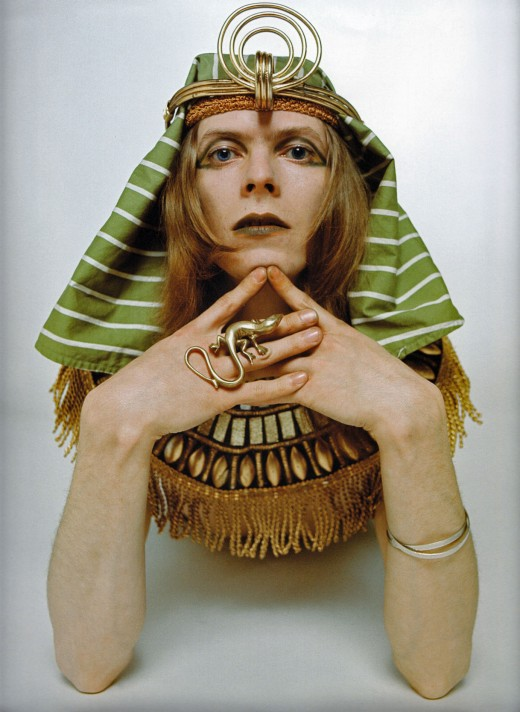 David Bowie as The Sphinx,  1969 (photo by Brian Ward)