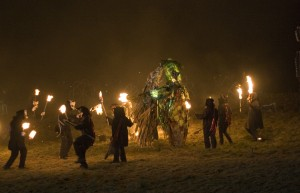 Imbolc ritual in Marsden, UK, 2007 (image from  Wikipedia)
