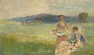 """Spring"" ny Thomas Wilmer Dewing (wikimedia)"