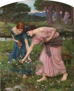 """Gather ye Rosebuds"" by John William Waterhouse (wikimedia)"