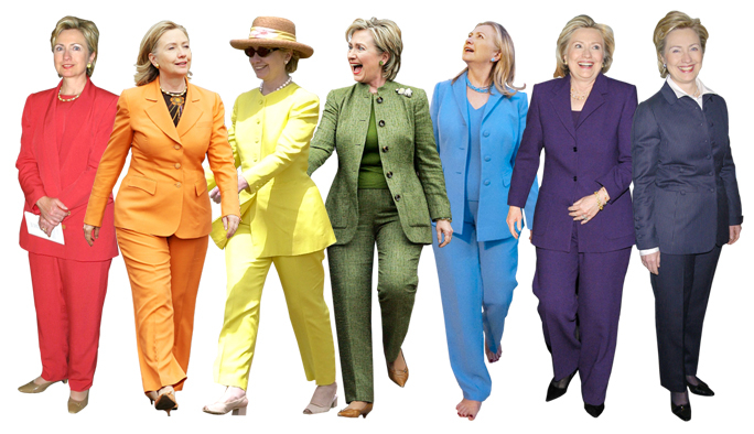 A righteous rainbow of pantsuits (image from dailywire.com)
