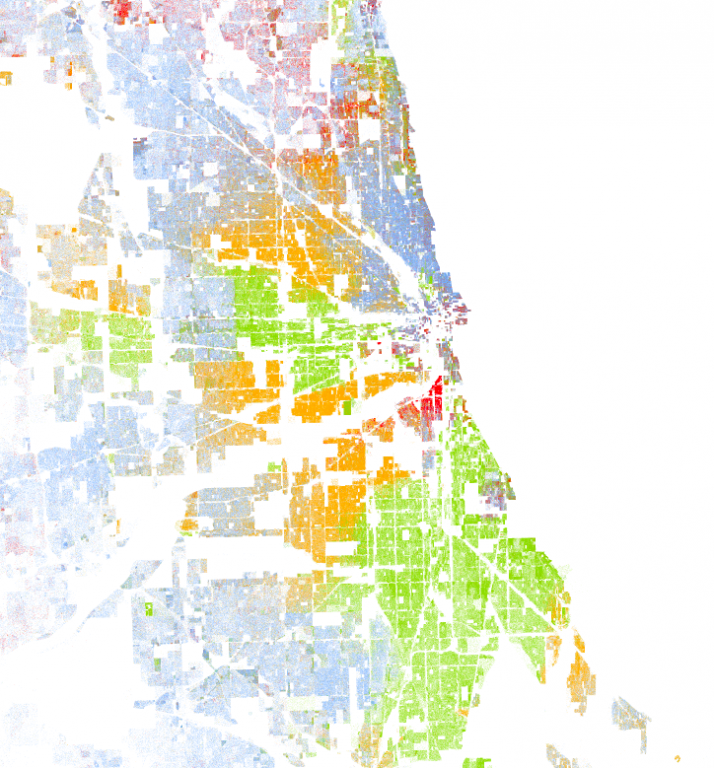 Prison reform Racial Dot Map of Chicago