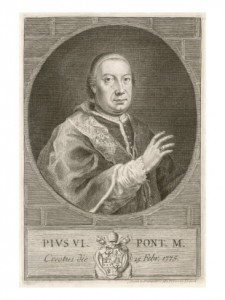 Pius VI, who died in exile from Rome