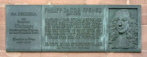 Spener 275th memorial plaque