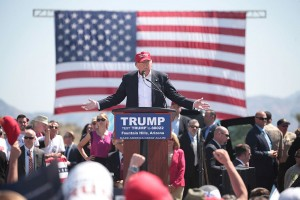 Donald Trump at a March 2016 rally in Arizona