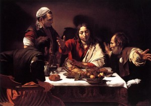 "Caravaggio, ""Supper at Emmaus"""