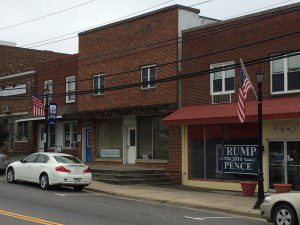 """Trump-Pence sign in """"Historic Hillsville"""""""