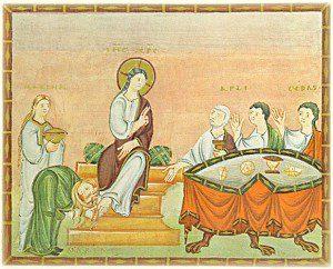 Anointing at Bethany, ca. 10th century, Egbert Codex