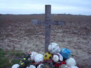 Soccer memorial for the Christmas Truce in Belgium