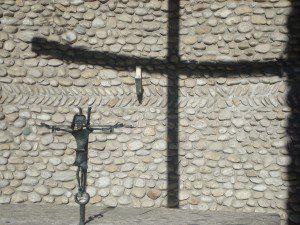Crucifix in Mortal Agony of Christ Chapel at Dachau
