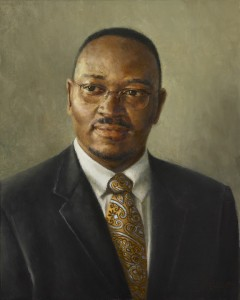"Catherine Prescott The Honorable Reverend Clementa C. Pinckney Oil on Canvas 20 x 16"", 2016"