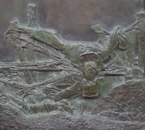 "Dead soldier in Jagger's ""No Man's Land"""