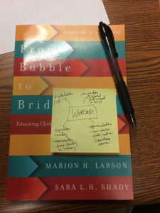 "Notes for my ""teaching as wonder"" talk, on Larson & Shady, From Bubble to Bridge"