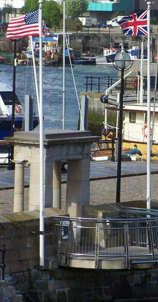 The Mayflower Steps in Plymouth (Devon, UK)  Photo by RobertBFC at English Wikipedia