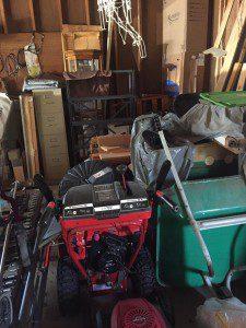 AB cluttered garage