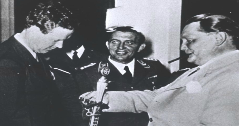 Charles Lindbergh with Hermann Goering