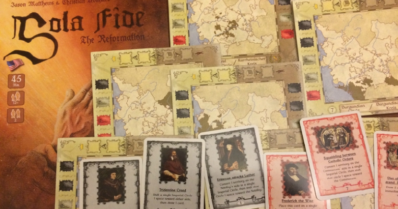 Sola Fide: The Reformation (board game laid out)