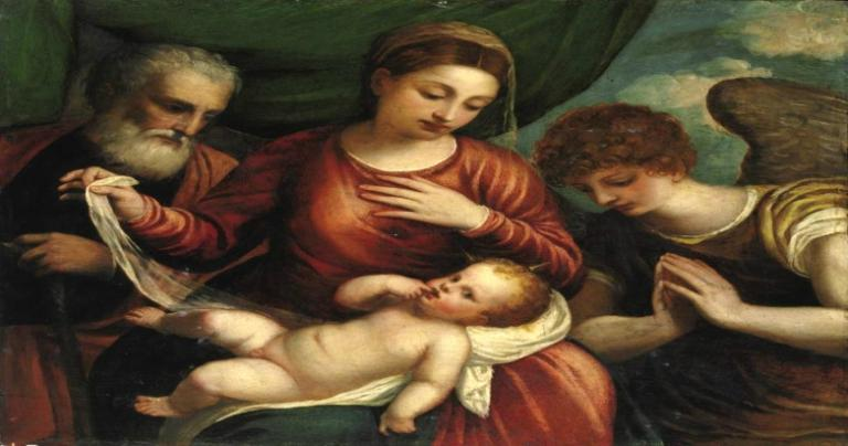 Polidoro, Holy Family with Angel