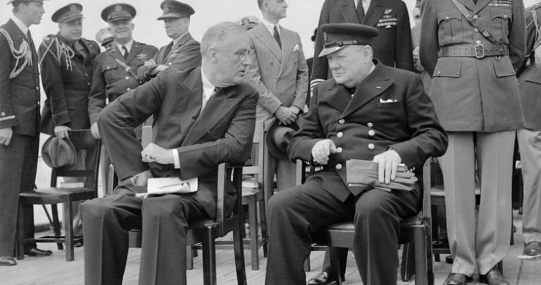 FDR and Churchill at Atlantic Conference
