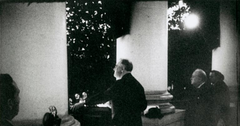FDR and Churchill at the White House on Christmas Eve, 1941