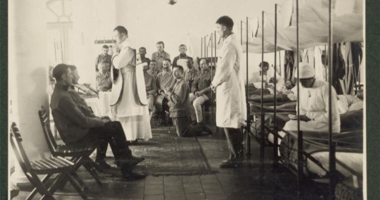 Catholic chaplain in an Austria military hospital during WWI