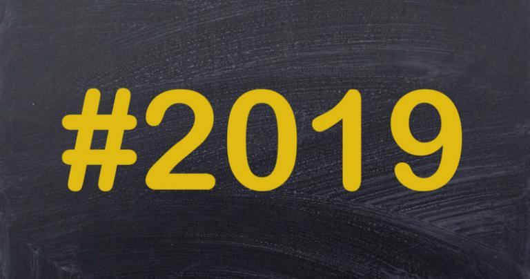 #2019 on chalkboard