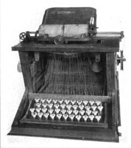 1873 prototype typewriter