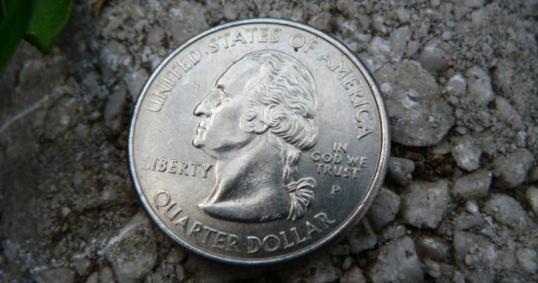 U.S. quarter with George Washington on the obverse