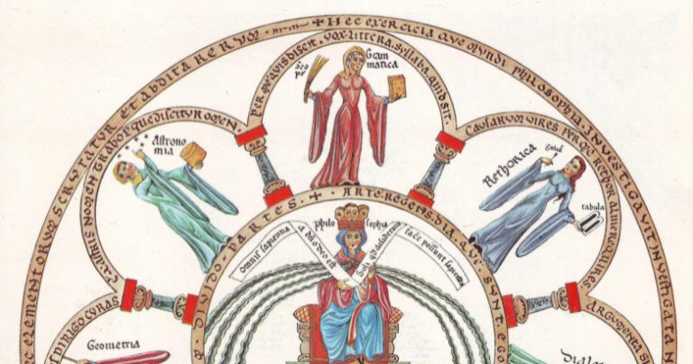 12th century illustration of liberal arts