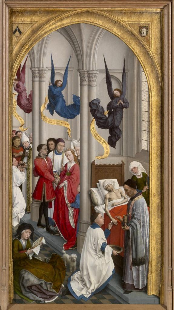 The right panel of van der Weyden's Seven Sacraments