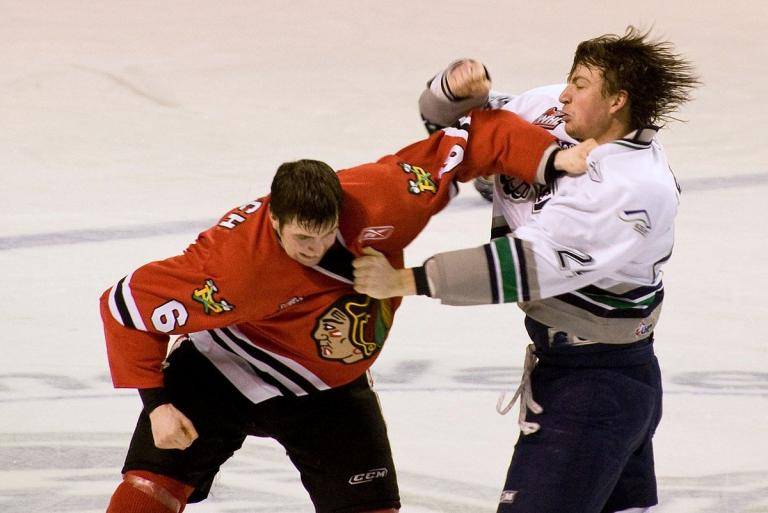 2009 fight between Portland and Seattle players in the Western Hockey League