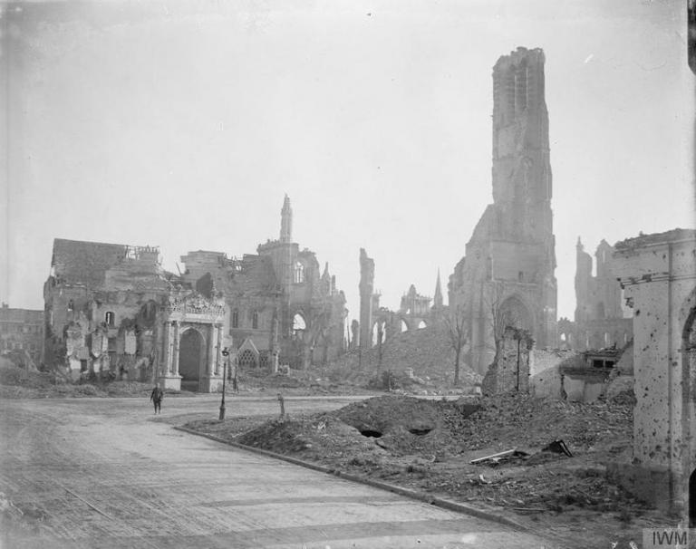 St. Martin's Church in ruins, Ypres, Belgium