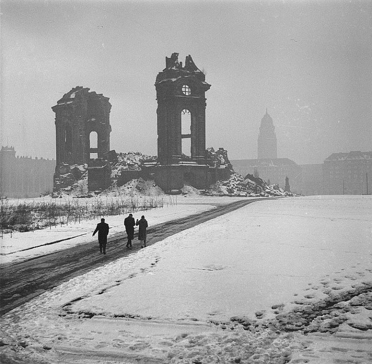 Dresden Frauenkirche ruins ca. 1965