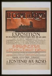 "1916 ""Crime of Reims"" poster"