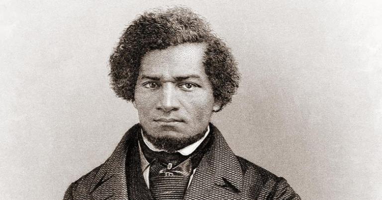 1855 portrait of Frederick Douglass