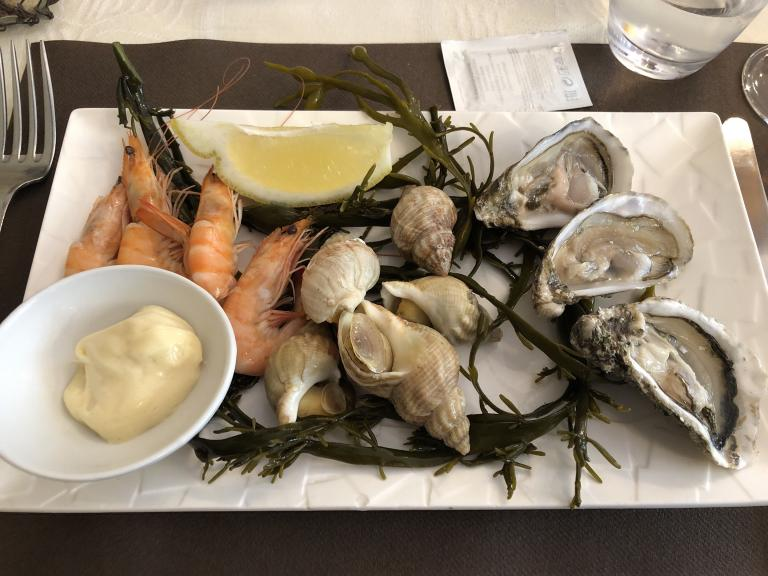"""Sailor's platter"" at a restaurant in Bayeux, France"