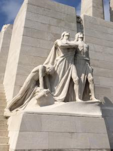 One of the memorial statues at Vimy: the sword being broken