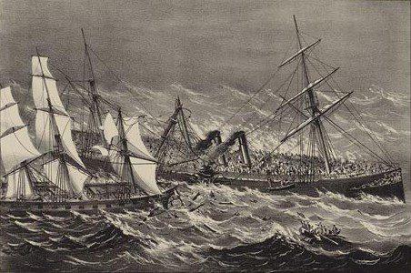 Sinking of the S.S. Ville du Havre in 1873