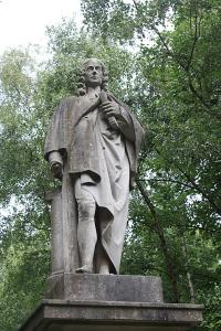 Statue of Isaac Watts in London's Abney Park Cemetery