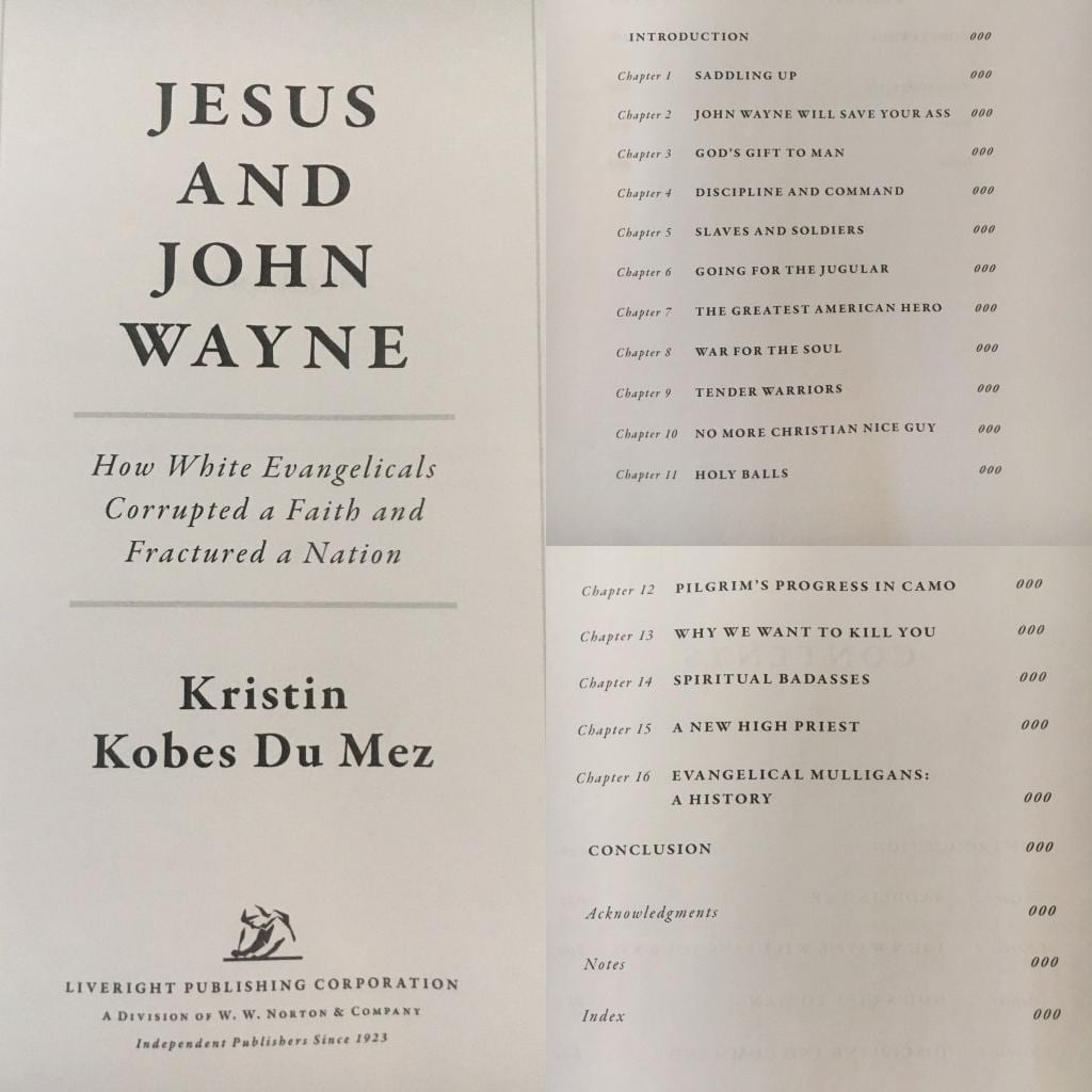 image of book table of contents for book Jesus and John Wayne, by Kristin Du Mez