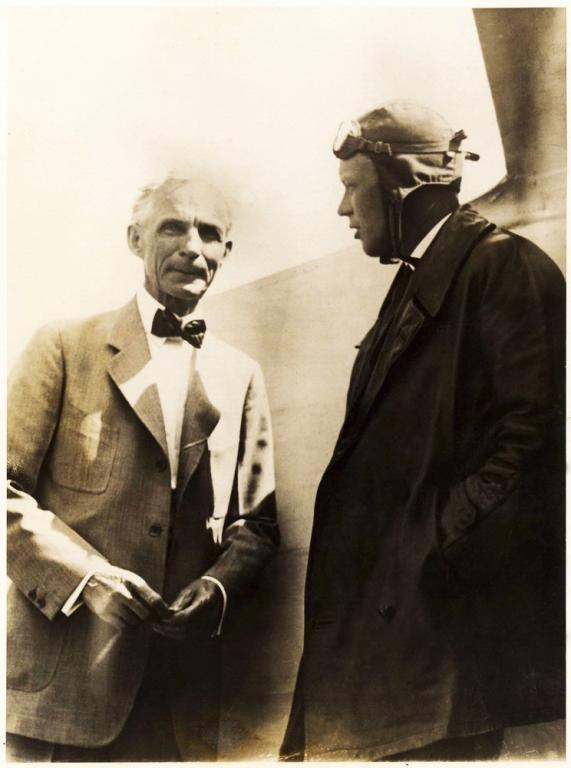 Henry Ford and Charles Lindbergh, 1927