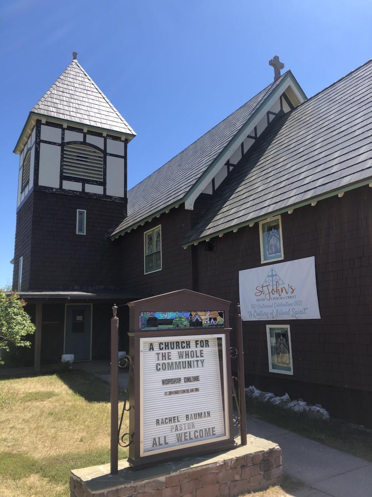 St. John's UCC Church in La Pointe, WI