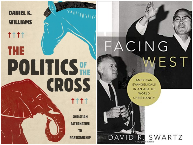 Covers of Williams, The Politics of the Cross and Swartz, Facing West