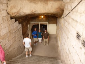 Caves where Christians hid from a police power.