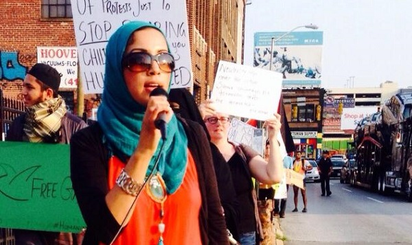 Photo of my friend Zainab Chaudry of CAIR National at a protest march. Image source: Zainab Chaudry